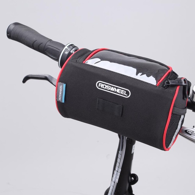 Roswheel Outdoor Cycling Bicycle Folding Bike Front Handlebar Bag Basket Transpa Pvc Pouch Bags For