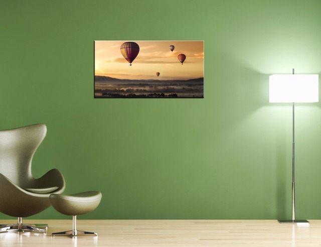 Wanddecoratie Op Doek.Visuele Art Decor Luchtballon Picture Doek Modern Home Wanddecoratie