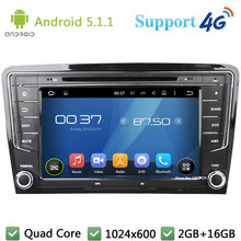 Quad Core 8″ 1024*600 Android 5.1.1 Car DVD Multimedia Player Radio Stereo 3G/4G WIFI DAB+ GPS Map For Volkswagen Santana 2013-