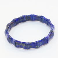 New Arrival 10x14mm Blue Geometry Bracelets For Men Women Natural Lapis Lazuli Stone Beads Bangle Manual Jewelry 7.5inch B3278
