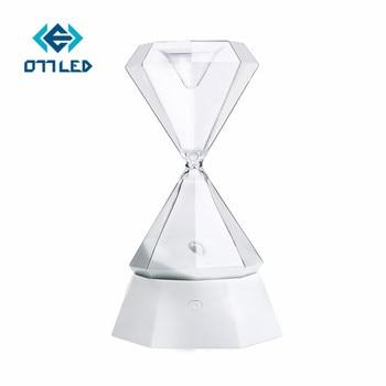 RGB Nachtlampje Zandloper Crystal Diamond Klok Lamp Romantische Sfeerverlichting Tafellamp voor Kinderen Gfit Nachtkastje Decoratie Thuis