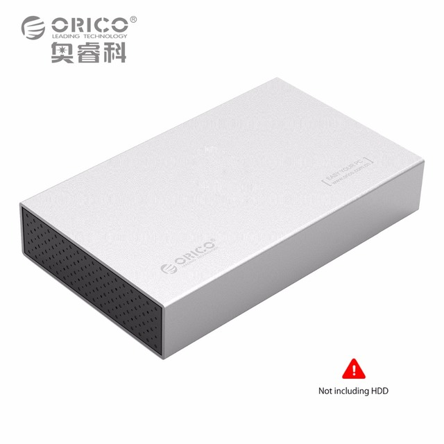 ORICO Aluminum 3.5 inch USB 3.0 to SATAIII External Hard Drive Enclosure up to 8TB 3.5 inch HDD [Support UASP] -Silver