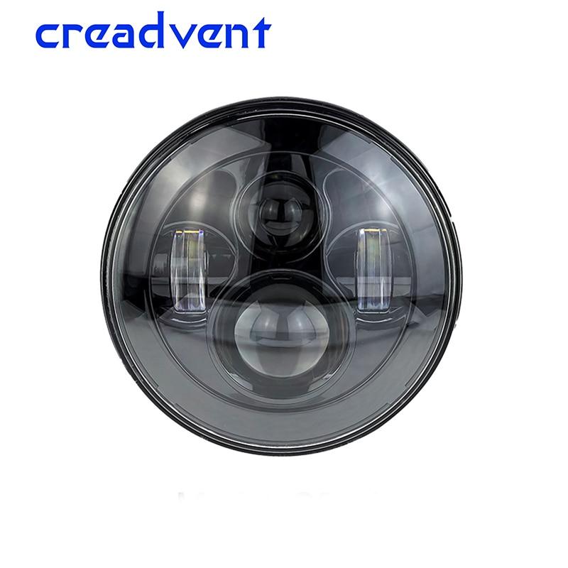 "5.75"" 5 3/4 LED Motorcycle Headlight Daymaker Black For Harley Sportster 1200 XL1200L Custom XL1200C 883 XL883 883L"