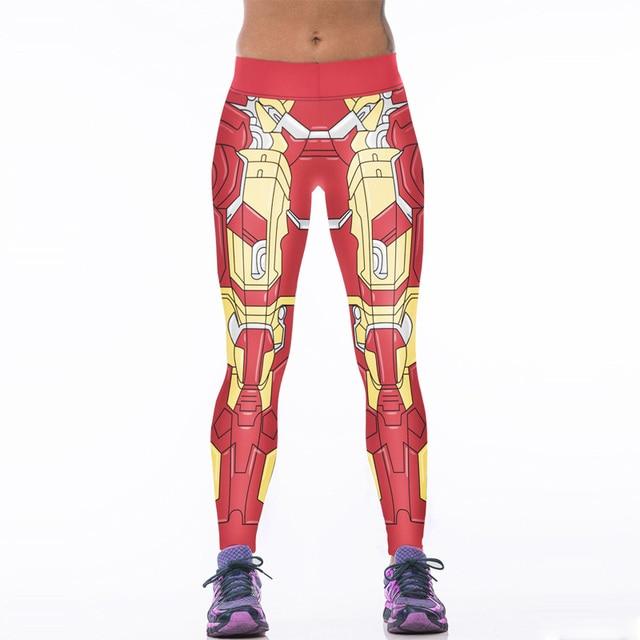 NEW 0024 Sexy Girl Women Comics The Avengers Iron Man Red Woman 3D Prints High Waist Workout Fitness Leggings Pants