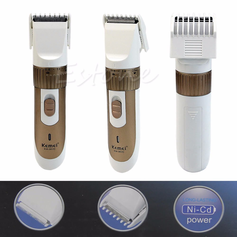 Professional Mens Hair Beard Trimmer Clipper Cordless Shaver Hair Cutting kit