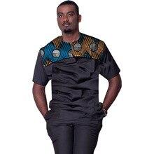 Casual mens african dashiki tshirt short sleeve tops summer shirts patchwork design men shirt customized