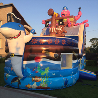 High Quality 9*4m Inflatable Pirate Ship Kids Slide,Outdoor Children Playground Inflatable Dry Slide