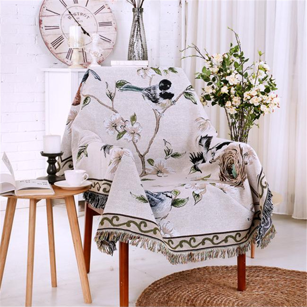 hotsale 100 cotton sofa towel blanket tablecloths thick bed cover
