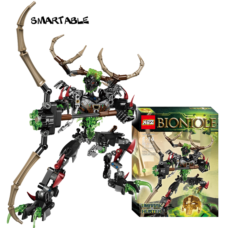 Smartable BIONICLE 172pcs Umarak Hunter figures 611-3 Building Block Toys For Children Compatible legoing 71310 BIONICLE Gift цена
