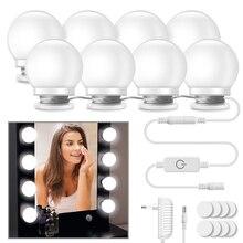 10 шт. косметическое зеркало туалетный светодиодный светильник лампы комплект косметических зеркал косметические лампы яркость регулируемая для макияжа настенная лампа