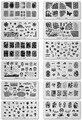 Últimas Nail Plantilla Cooi Serie Nail Art de Acero Inoxidable Placa de la Imagen de Konad Nail Art Stamping Plantilla Del Clavo de DIY Tool12Designs