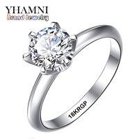 Ювелирные украшения Реальные белого золота кольцо с 18krgp Stamp Gold Filled Кольца комплект 6 мм Сона CZ Diamant золотые свадебные кольца для Для женщин