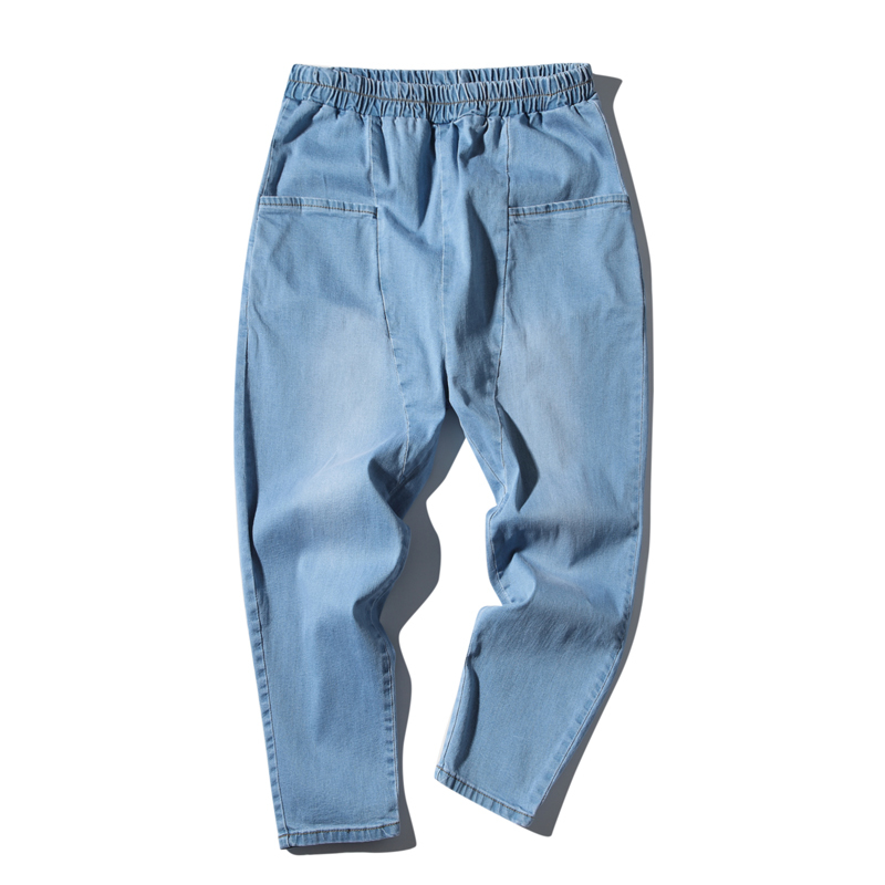 2018 fashion casual wild blue jeansThe Wind In Original Su Jie Time Low Crotch Cattle Nine Part Pants Free shipping Favourite