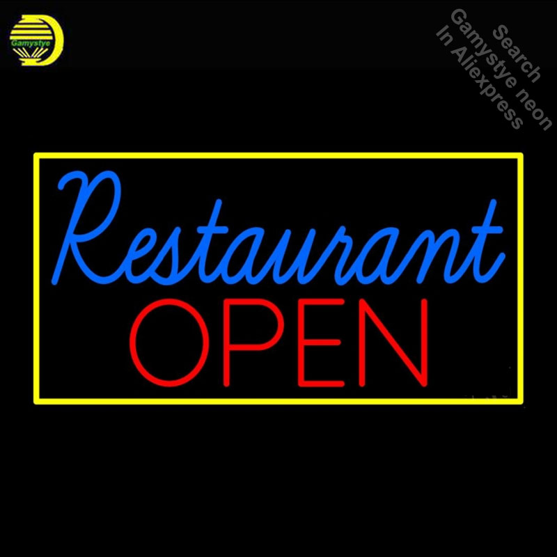 Neon Bulbs & Tubes Light Bulbs Expressive Neon Sign For Restaurant Open Neon Bulb Sign Handcraft Real Glass Tube Decorate Windows Personalise Neon Sign Maker Dropshipping