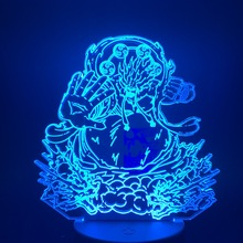 Anime One Piece Enel AMARU Figure 3d Led Night Light Acrylic Crafts Nightlight Gift for Child Boy Bedroom Decor Table Lamp 3d цена в Москве и Питере