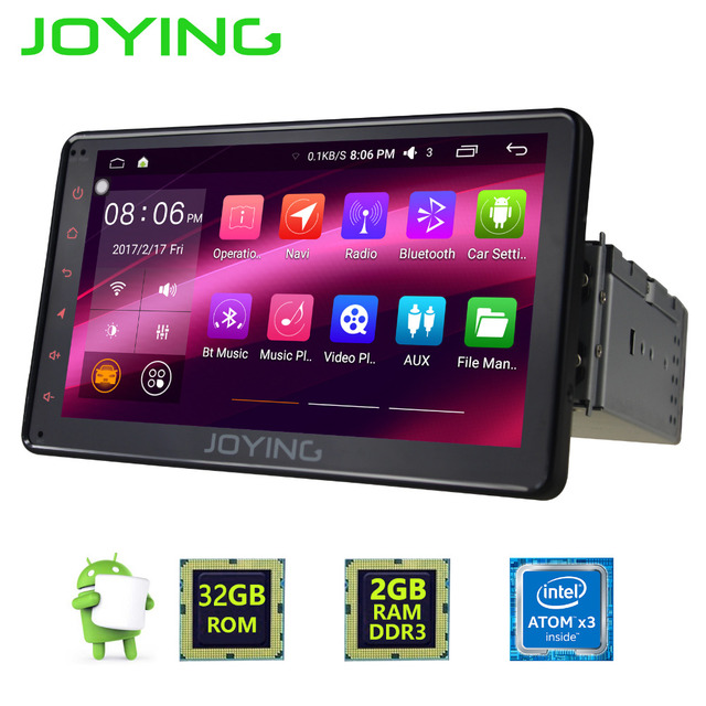 joying latest 2gb android 6 0 single 1 din 7 universal. Black Bedroom Furniture Sets. Home Design Ideas