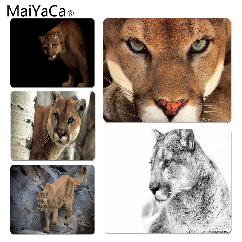 MaiYaCa Your Own Mats Cougar DIY Design Pattern Game mousepad Size for 18x22cm 25x29cm Rubber Mousemats