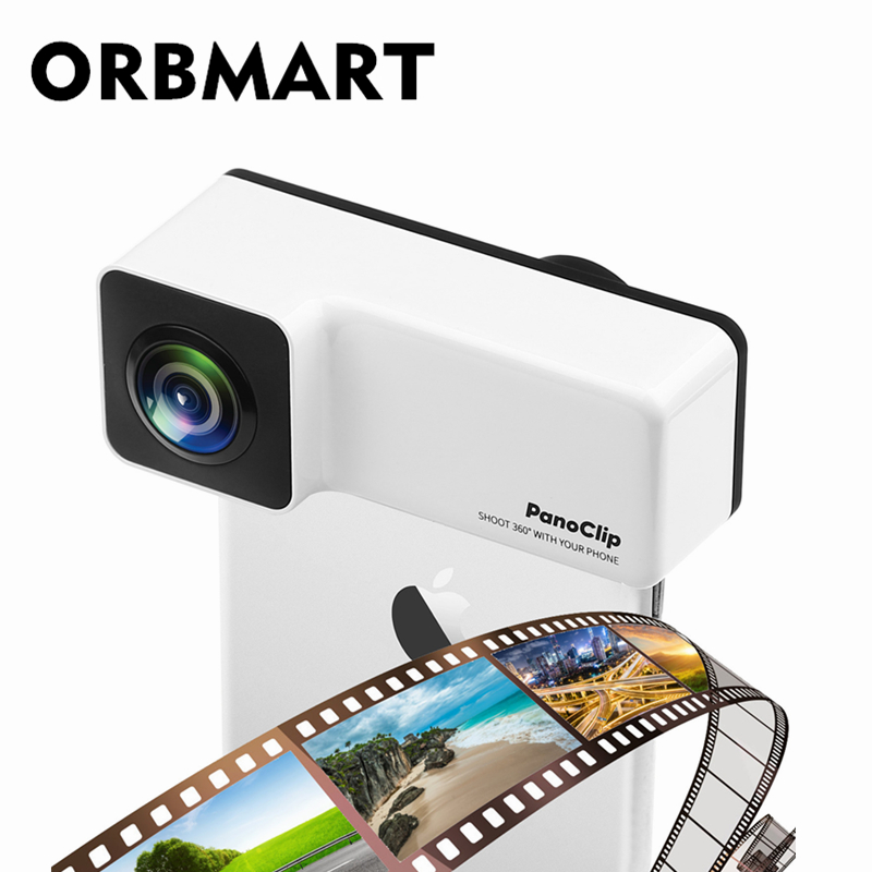 ORBMART Rectangle 360 Degrés Panoramique Téléphone Camera Lens Full Vue Shot Double Lentille Pour Apple iPhone X 7 8 7 8 Plus Téléphone Portable