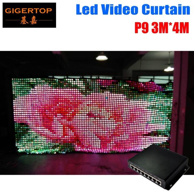 P9 3 m * 4 m modo pc dj stage fundo led cortina de vídeo 1200 pcs 3in1 estágio casamento cortina de led com 80 tipos de padrão pano de fundo