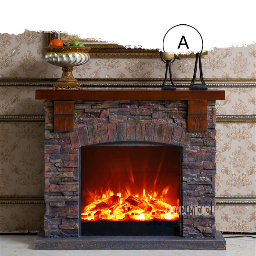 A/B Creative European Fireplace Living Room Decoration Heating Fireplace Wood Electric Fireplace Shelf +Heating Core 110V/220V