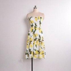 Street Style Sexy Strapless dress women Boho backless beach summer dresses yellow Floral print Ruffles short dress vestidos 5