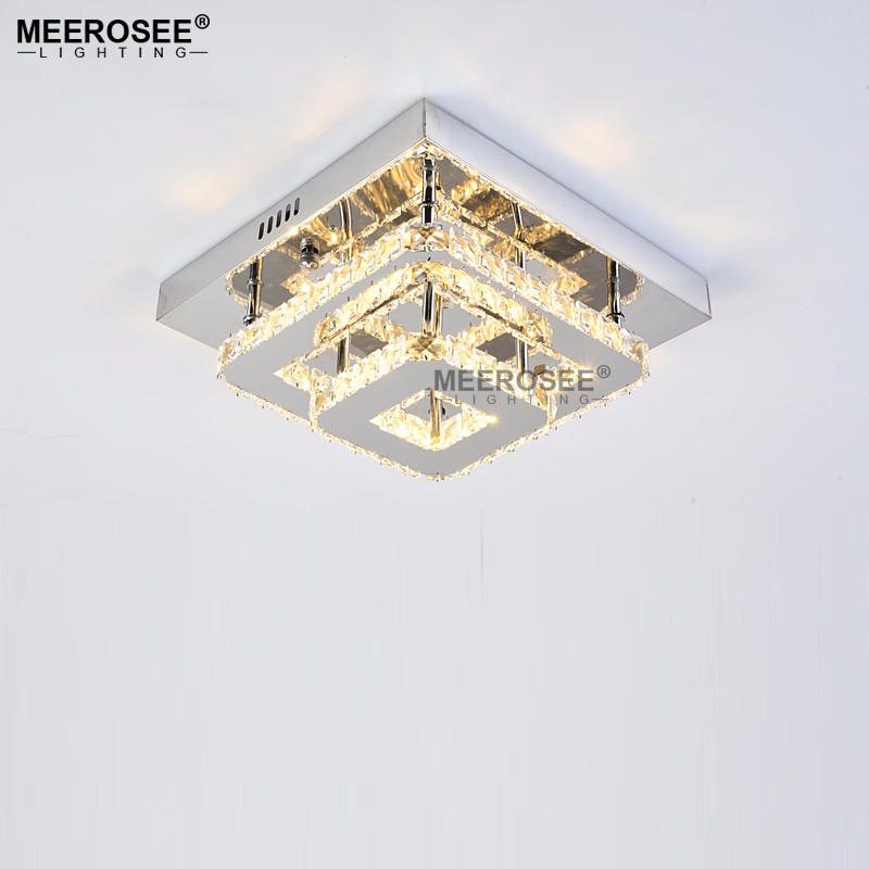Square Crystal LED Ceiling light Fixture Ceiling Lighting for Living room lamparas de techo Hanging Lamp For Bedroom Dining Room square modern led crystal ceiling lights fixture bedroom living room aisle porch stairs hallway lighting lamparas de techo lamp