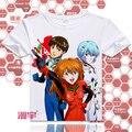 Japonés Neon Genesis Evangelion EVA Asuka estilo del verano T-Shirt de Anime camiseta forme a mujeres Casual manga corta camiseta Tops