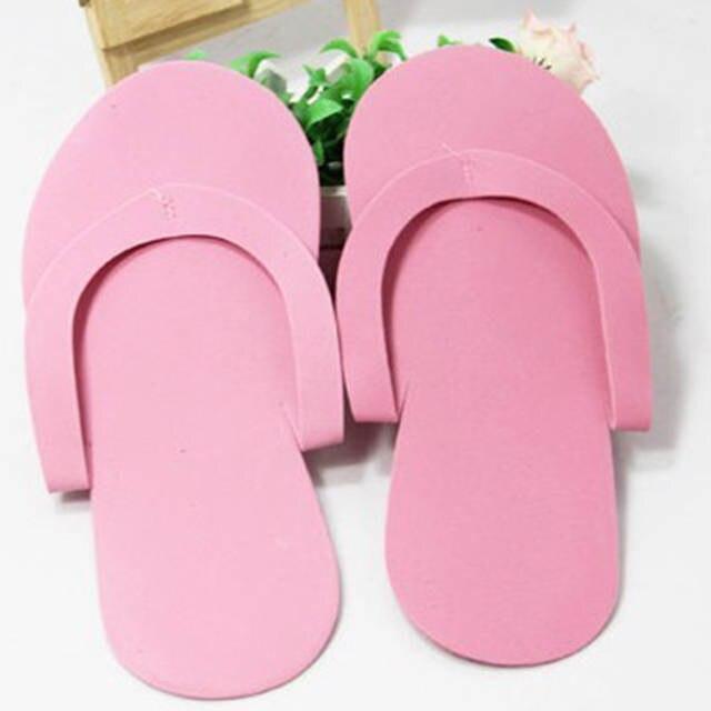 c48989d6518 12pair lot Soft Nail Disposable Slippers Flip Flop Foam Pedicure Foot Spas  Separators Nails Art