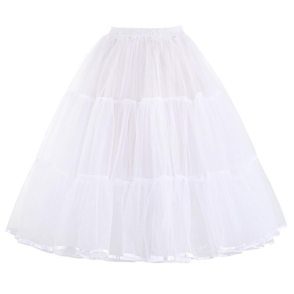 Tulle Rok Lipit Fluffy Rockabilly Ayunan Rok Underskirt Crinoline - Pakaian Wanita - Foto 3