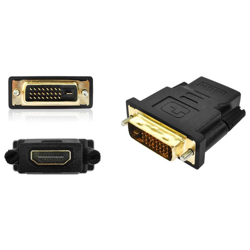 DZLST HDMI vers DVI 24 + 1 adaptateur femelle vers mâle 1080P HDTV convertisseur pour PC PS3 projecteur TV boîte HDTV LCD écran d'ordinateur