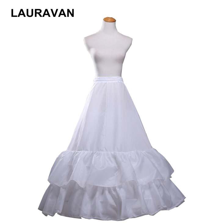 Lace Edge 2 Hoop Petticoat Underskirt For Bride Women Ball Gown Bridal Wedding Dress Underwear Crinoline Wedding Accessories
