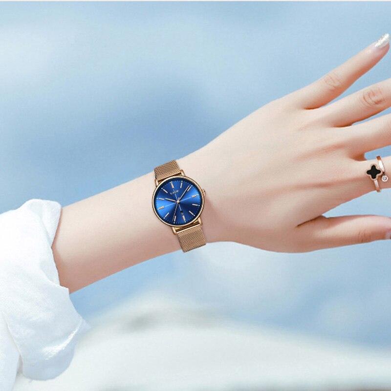 2019 LIGE nouveau femmes montre affaires Quartz montre haut pour femme marque de luxe femme montre-bracelet femmes fille horloge Relogio Feminin + boîte
