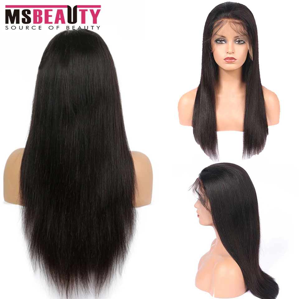Lace Front Human Hair Wig Pre Plucked With Baby Hair 13*4 Malaysian Straight Human Hair Lace Wig For Women Remy Human Wigs 150%