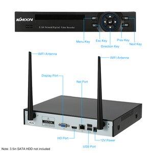 Image 3 - KKmoon sistema de vigilancia de seguridad CCTV, 4 canales, 1080P, WiFi, NVR, 4 Uds., cámara IP inalámbrica de 1.0MP, impermeable, visión nocturna