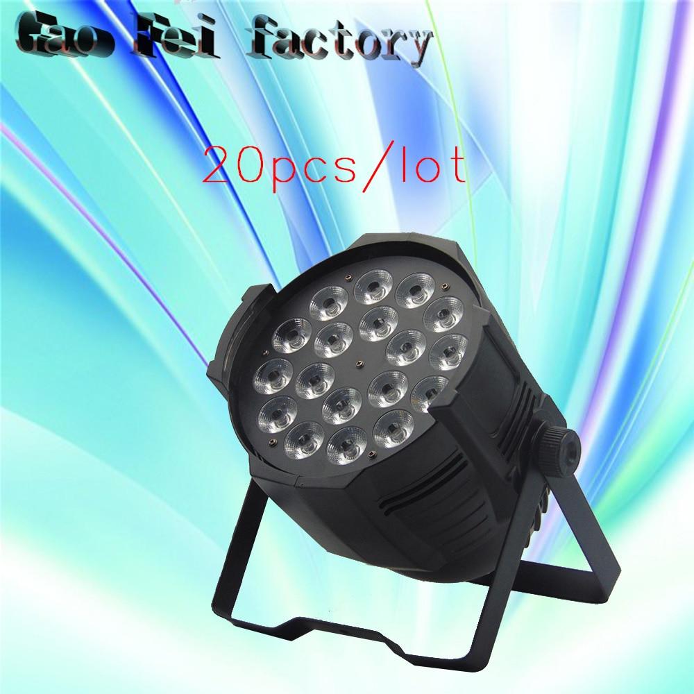 20Pcs/lot RGBW 4IN1 LED Par Can 18x12W 8 DMX Channels Wash Light Stage Uplighting 20pcs lot ls30 to252