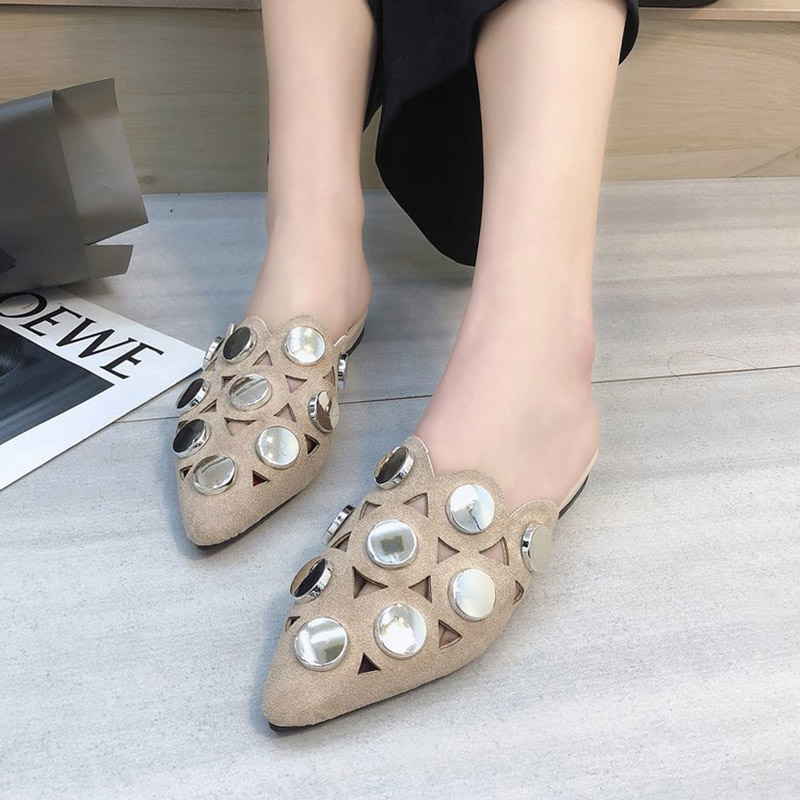 size 35 39 metal bling slippers Flat big girls shoes lady openwork sandals  summer beach shoes-in Slippers from Mother   Kids on Aliexpress.com  c883e2cd6e80