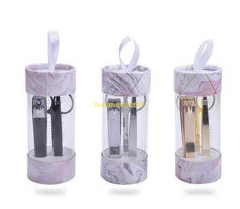 High-end gift stainless steel cylinder nail three-piece beauty set nail clipper set#@!323
