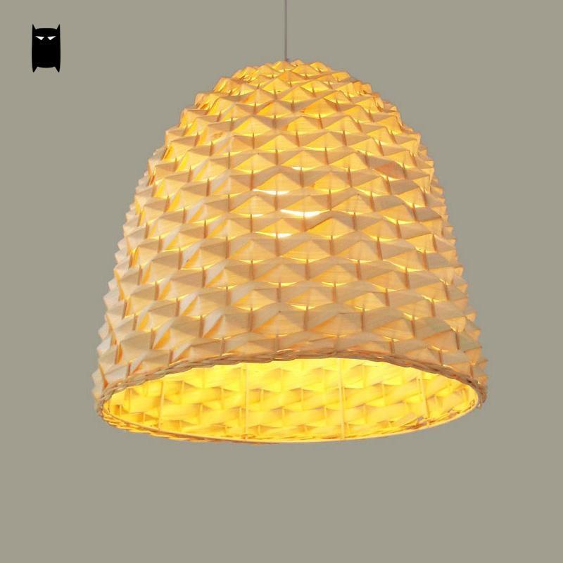 Bamboo Wicker Rattan Pineapple Pendant Light Fixture ...