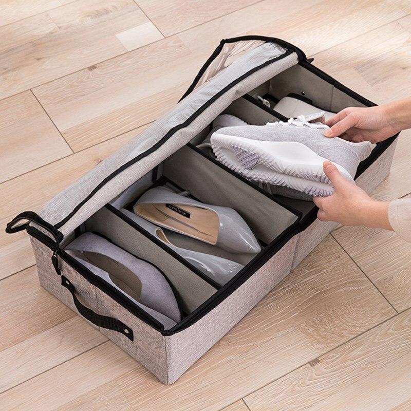 Folding transparent shoe box shoe storage rack artifact organizer finishing box dormitory shoes cabinet shoe stand mx12111137