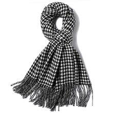Женский или мужской классический шарф в ломаную клетку, шаль, длинный шейный платок, Мягкие акриловые шарфы в ломаную клетку