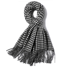 Women or Men Classic Houndstooth Scarf Shawl Wraps Long Neck