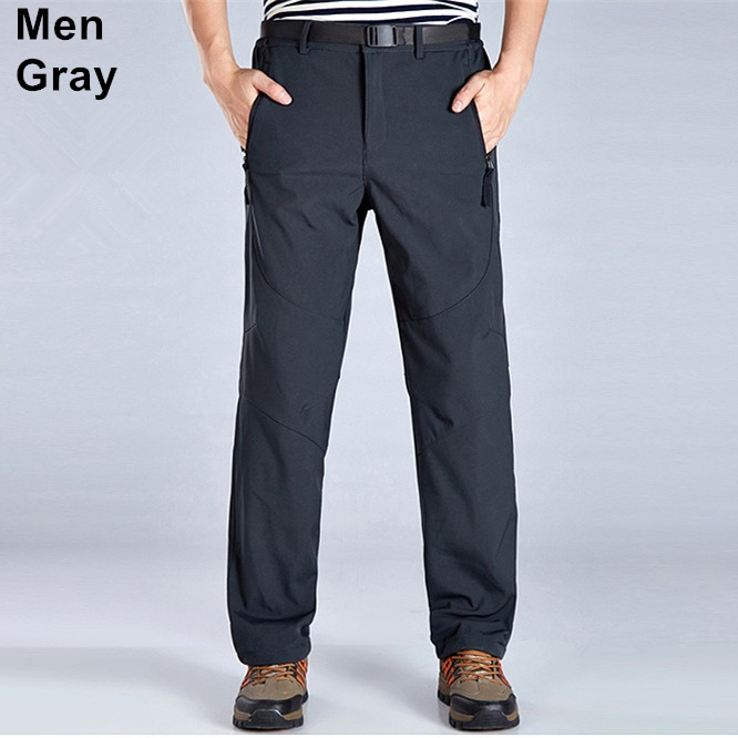 6a9173150 US $23.78 35% OFF|RAY GRACE Winter Trekking Fleece Softshell Pants  Waterproof Outdoor Pants Hiking Camping Mountain Trousers Men Women Plus  Size-in ...