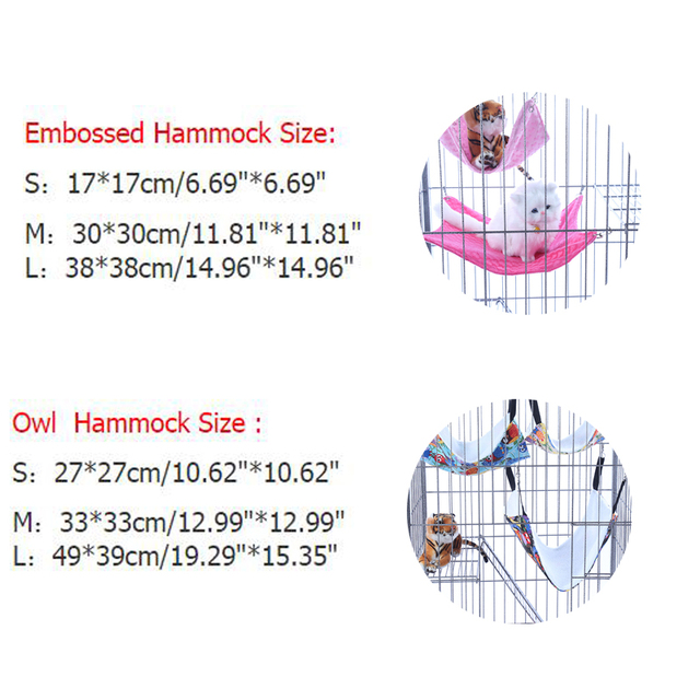 Small Pet Dog Hammock Goods Rat Rabbit Hamster Cat Cage Hammocks Hanging Bed Cage Supplies Accessories S M L DOGGYZSTYLE