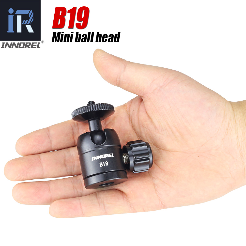 B19 Mini tripé bola cabeça para smartphone telefone móvel liga De Alumínio Tripé cabeça para selfie vara câmera leve 19mm bola