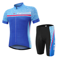 Blue Cycling Jersey Set MTB Bike Clothing Racing Bicycle Clothes Maillot Ropa Ciclismo Cycling Sets Summer Sportswear Bike Set