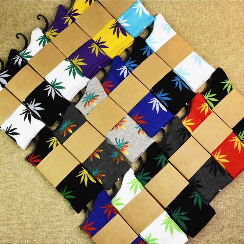 Maple Leaf Socks New Cotton Hip Hop Sports Men And Women Maple Leaf Pattern Fashion Street Skateboard Wind Couple Socks