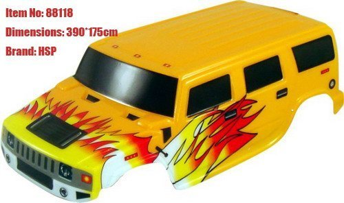 rc modelFree shipping, RC Car Body, 1/8 Monster Truck & Crawler Body-47*18cm, Brand:HSP1