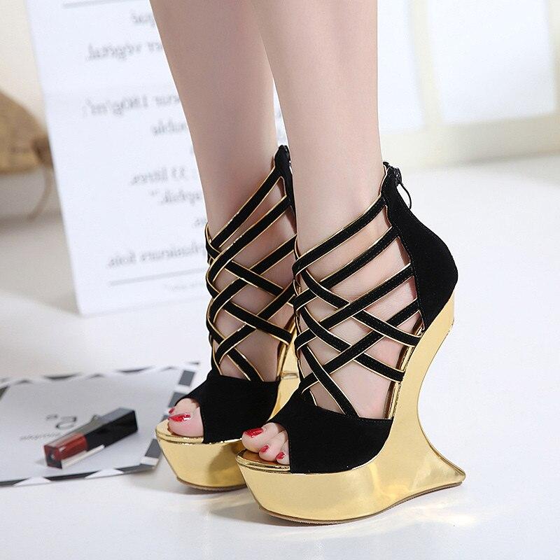 ФОТО Free shipping summer women's sexy strange heel peep toe nightclub high heel sandals