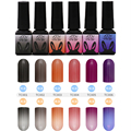 12 colors Thermal Color Changing Nail Art Polish Soak Off UV LED Gel Lacquer Gel Polish Chameleon Salon Soak Off Nail Art 8ml