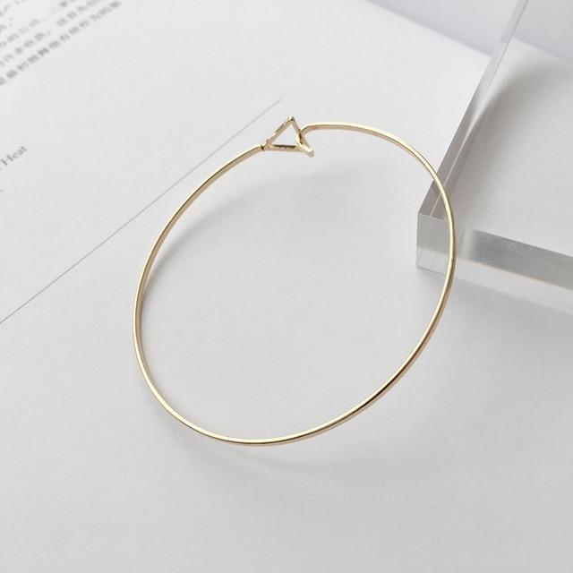 Korean Jewelry Design, Geometric Triangle, Open Bracelet, Simple Temperament Bracelet, Women's Jewelry Wholesale Thin Bracelet